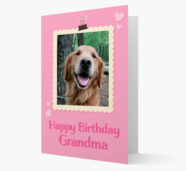 Photo Upload 'Happy Birthday, Grandma' Card with your Golden Retriever Picture