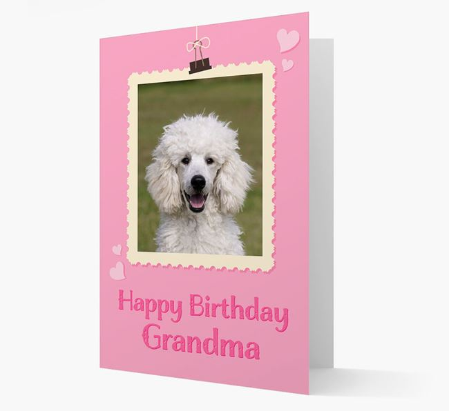 Photo Upload 'Happy Birthday, Grandma' Card with your Poodle Picture