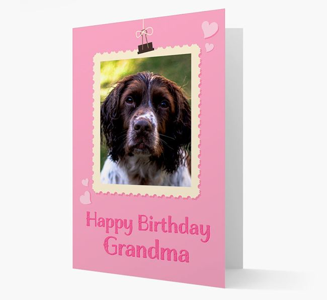 Photo Upload 'Happy Birthday, Grandma' Card with your Springer Spaniel Picture