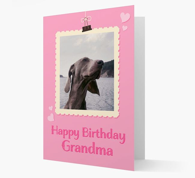Photo Upload 'Happy Birthday, Grandma' Card with your Dog Picture