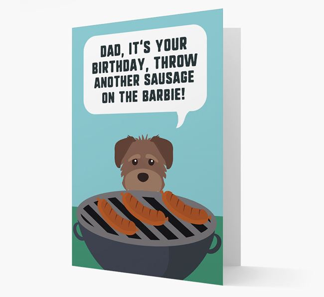 'Dad's Birthday Barbie' Card with Schnoodle Icon