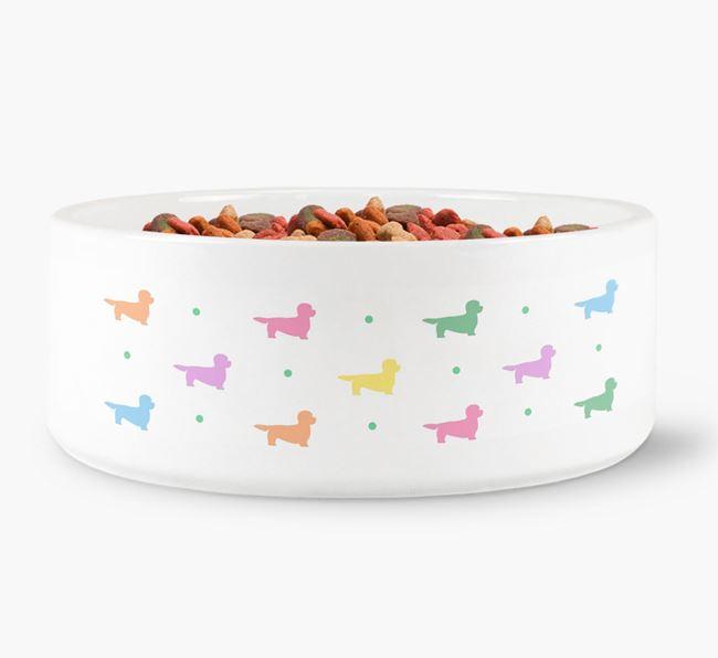 Dandie Dinmont Silhouettes Dog Bowl