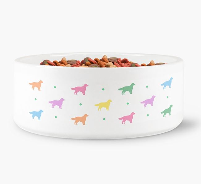 Toller Silhouettes Dog Bowl