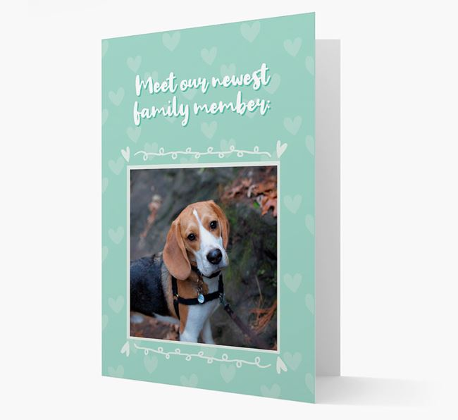 Photo Upload 'Meet our newest family member' Card with you Beagle Picture