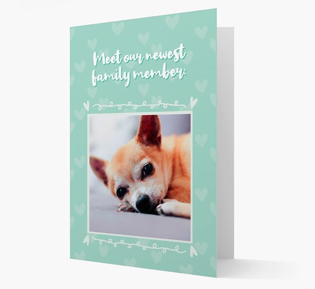 Photo Upload 'Meet our newest family member' Card with you Chihuahua Picture