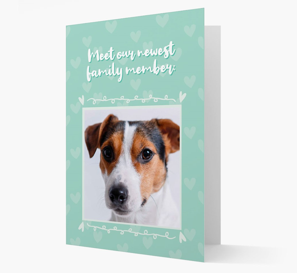 Photo Upload 'Meet our newest family member' Card with Dog Picture
