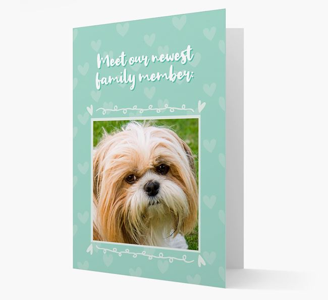 Photo Upload 'Meet our newest family member' Card with you Shih Tzu Picture