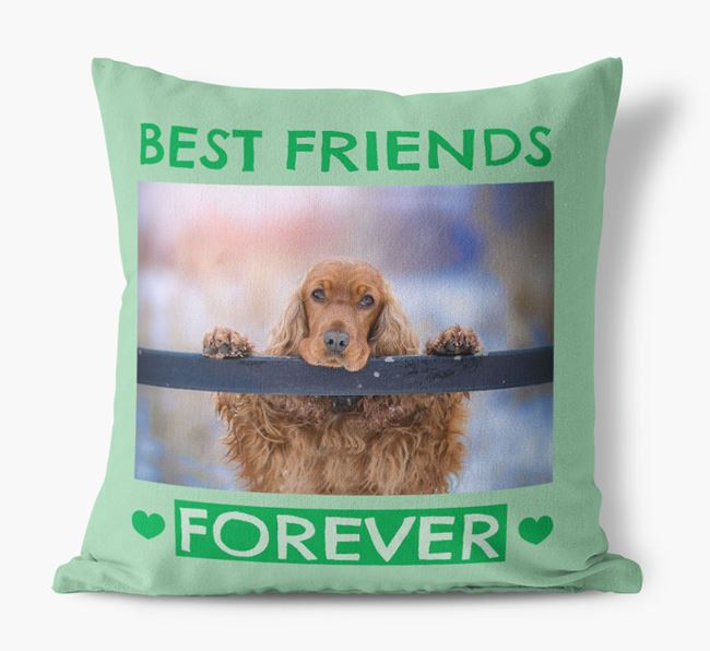 Photo Upload 'Best Friends Forever' Canvas Pillow with Cocker Spaniel Picture