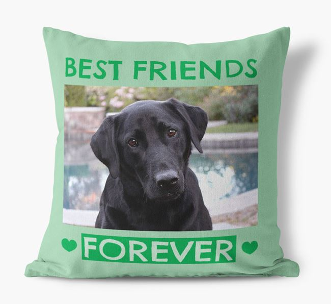 Photo Upload 'Best Friends Forever' Canvas Pillow with Labrador Retriever Picture