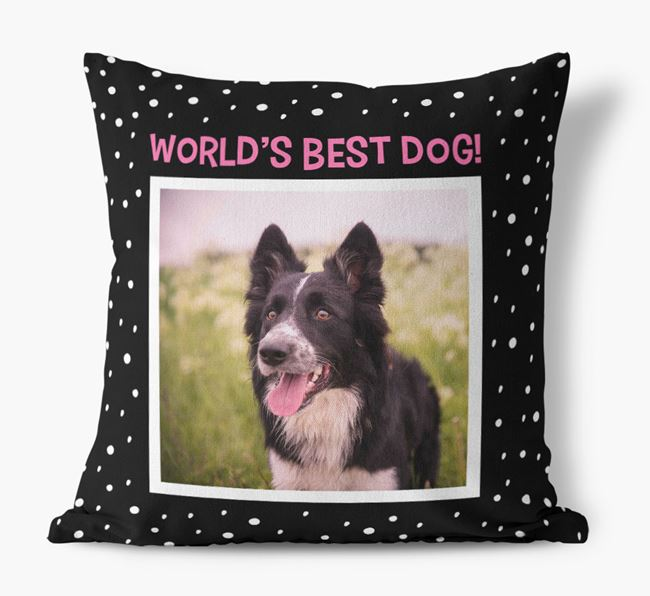 Photo Upload 'World's Best Dog' Pillow with Dog Picture