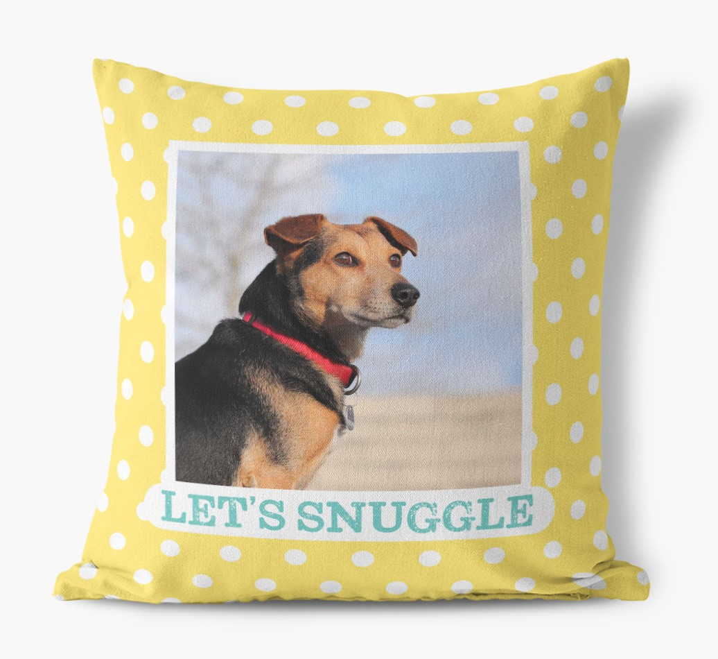 'Let's Snuggle' - Field Spaniel Photo Upload Pillow ...