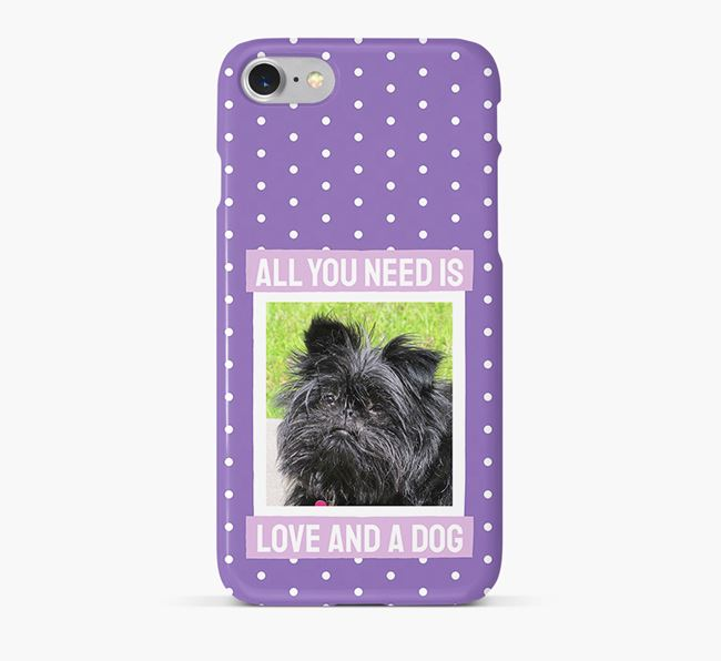 'All You Need is Love' Phone Case with photo of your Affenpinscher