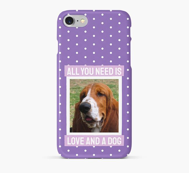 'All You Need is Love' Phone Case with photo of your Basset Hound