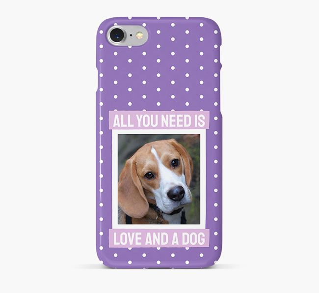 'All You Need is Love' Phone Case with photo of your Beagle