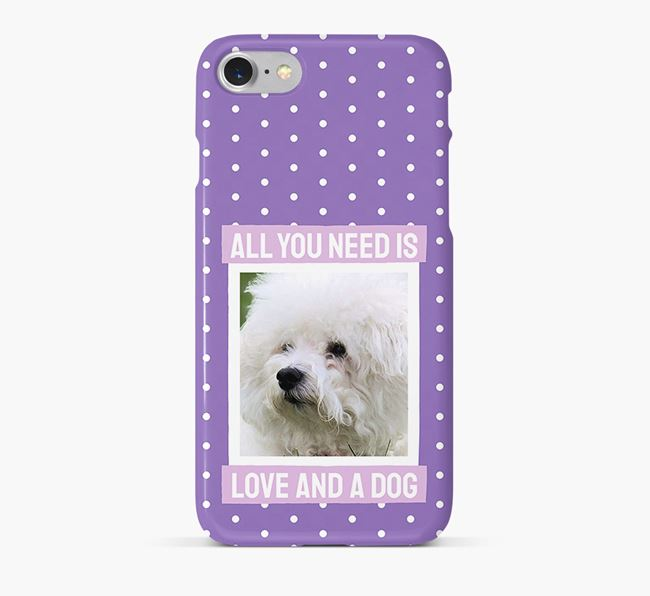 'All You Need is Love' Phone Case with photo of your Bichon Frise