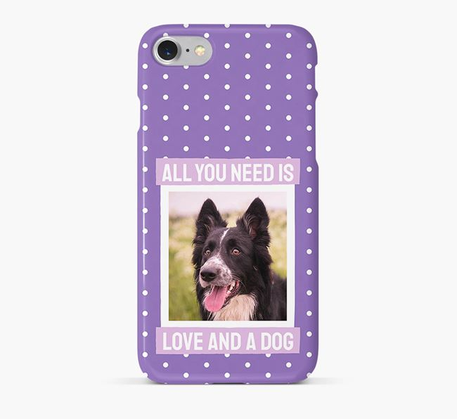 'All You Need is Love' Phone Case with photo of your Border Collie
