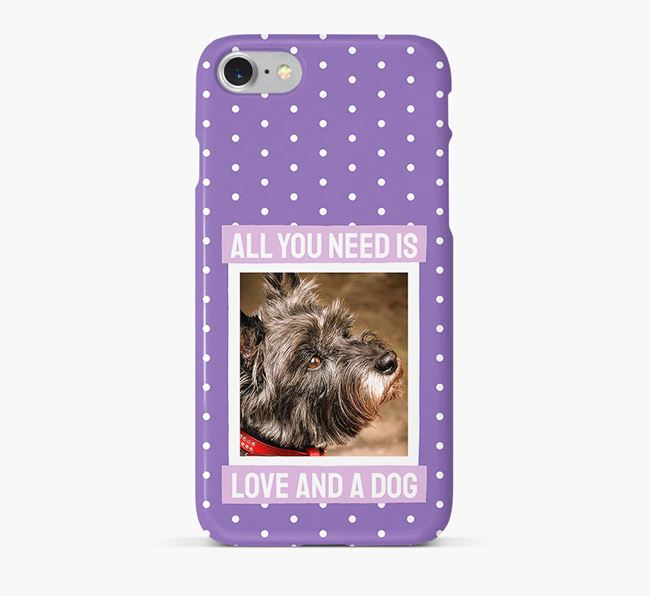 'All You Need is Love' Phone Case with photo of your Cairn Terrier