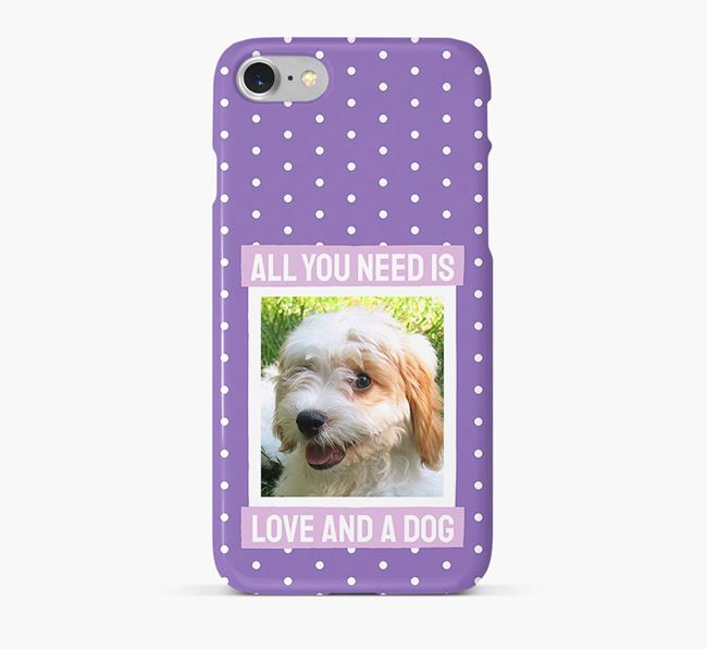 'All You Need is Love' Phone Case with photo of your Cavachon