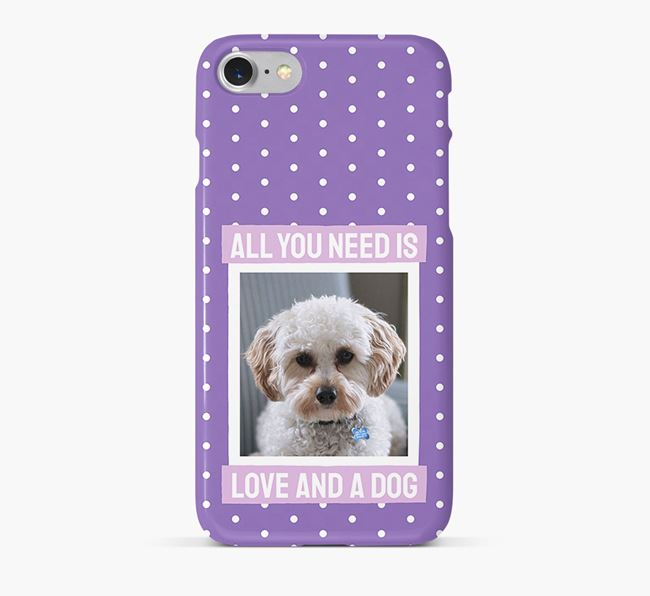 'All You Need is Love' Phone Case with photo of your Cavapoo