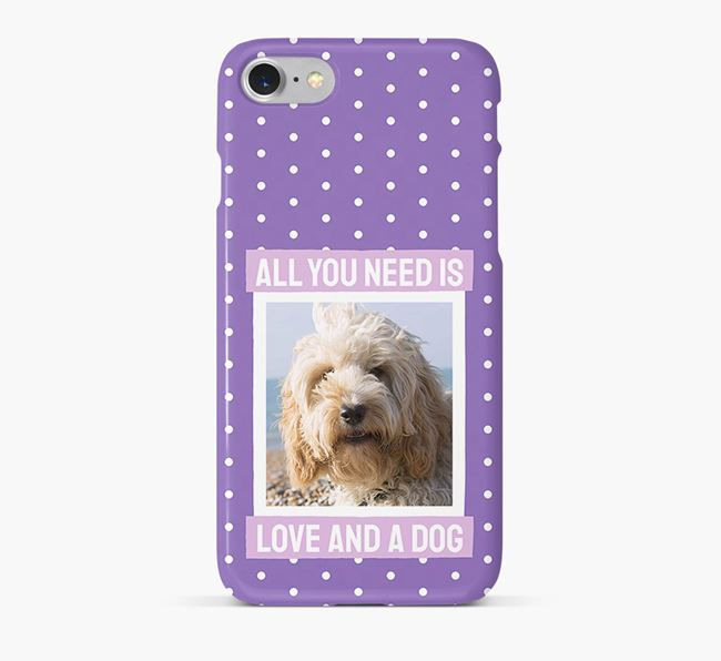 'All You Need is Love' Phone Case with photo of your Cockapoo