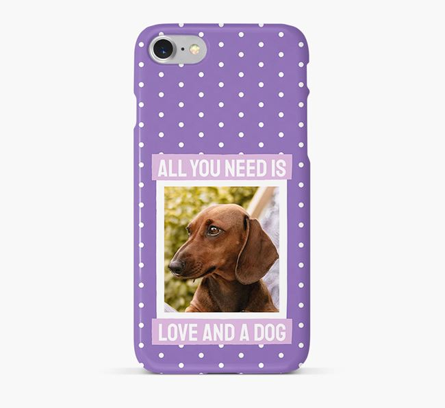 'All You Need is Love' Phone Case with photo of your Dachshund