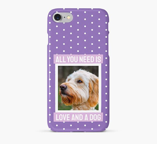 'All You Need is Love' Phone Case with photo of your Goldendoodle