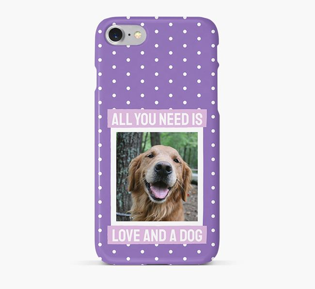 'All You Need is Love' Phone Case with photo of your Golden Retriever