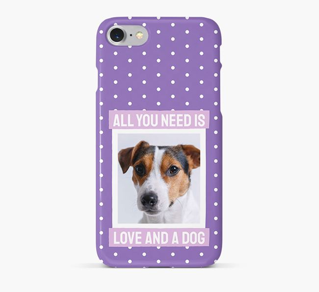 'All You Need is Love' Phone Case with photo of your Jack Russell Terrier