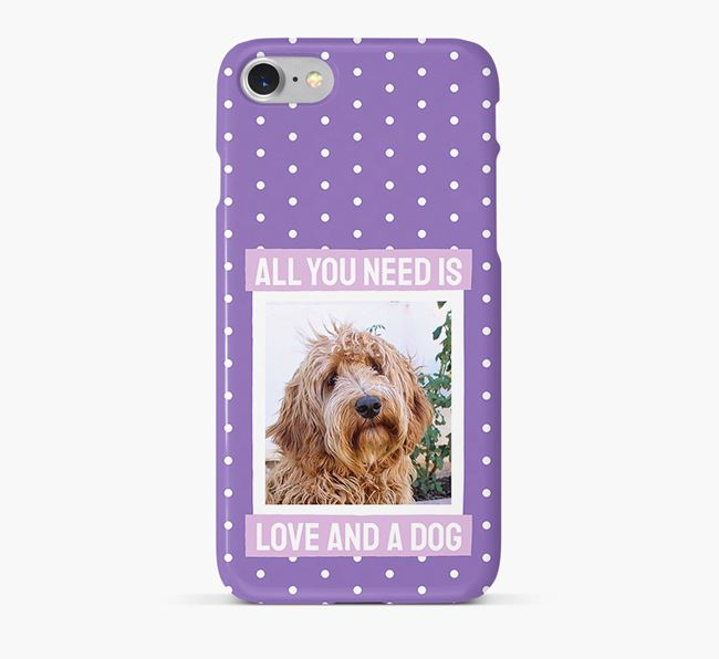 'All You Need is Love' Phone Case with photo of your Labradoodle