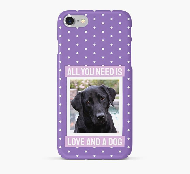 'All You Need is Love' Phone Case with photo of your Labrador Retriever