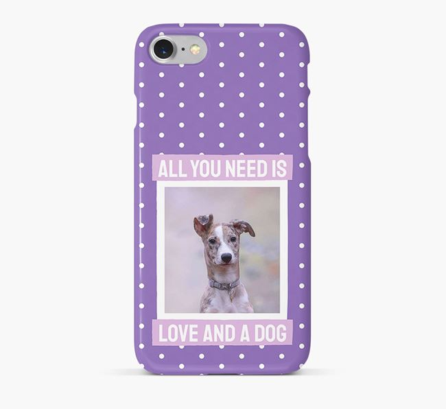 'All You Need is Love' Phone Case with photo of your Lurcher