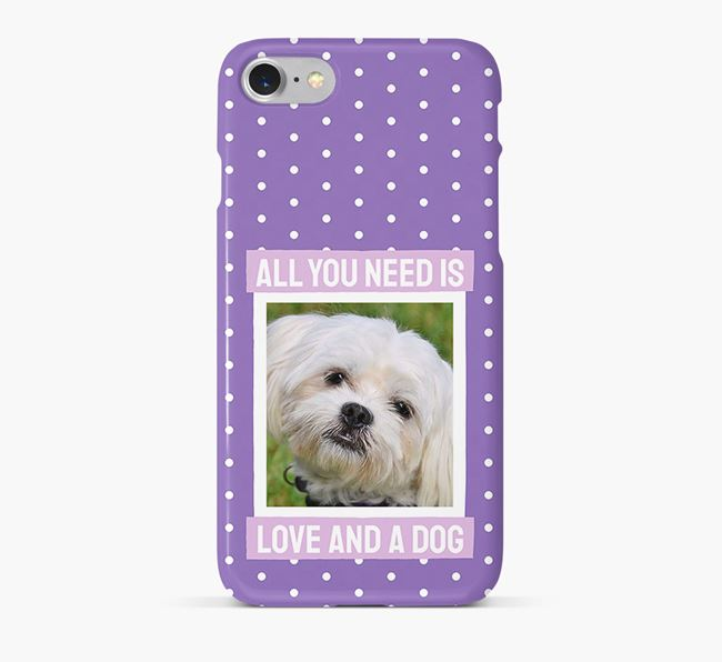 'All You Need is Love' Phone Case with photo of your Maltese