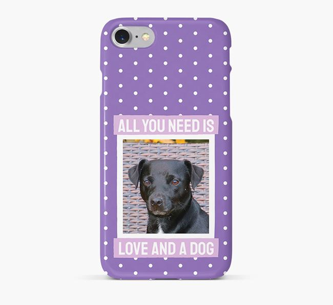 'All You Need is Love' Phone Case with photo of your Patterdale Terrier