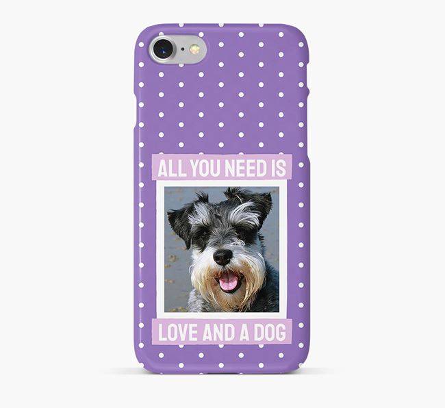 'All You Need is Love' Phone Case with photo of your Schnauzer