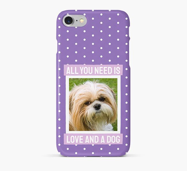 'All You Need is Love' Phone Case with photo of your Shih Tzu