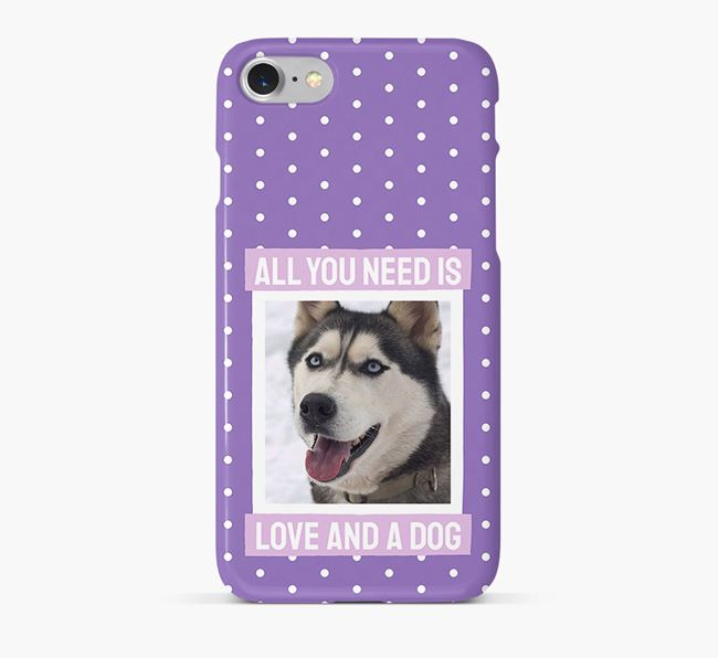 'All You Need is Love' Phone Case with photo of your Siberian Husky
