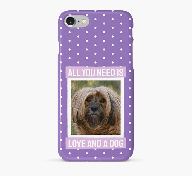 'All You Need is Love' Phone Case with photo of your Tibetan Terrier