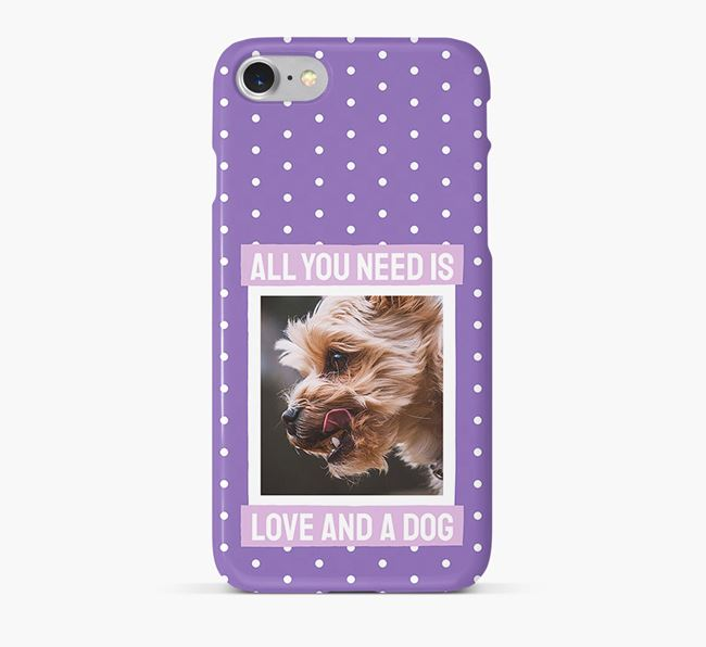 'All You Need is Love' Phone Case with photo of your Yorkshire Terrier
