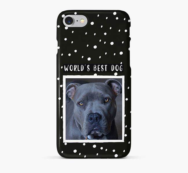 'Worlds Best Dog' Phone Case with photo of your American Pit Bull Terrier