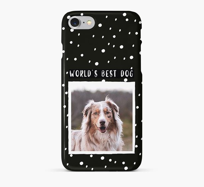 'Worlds Best Dog' Phone Case with photo of your Australian Shepherd