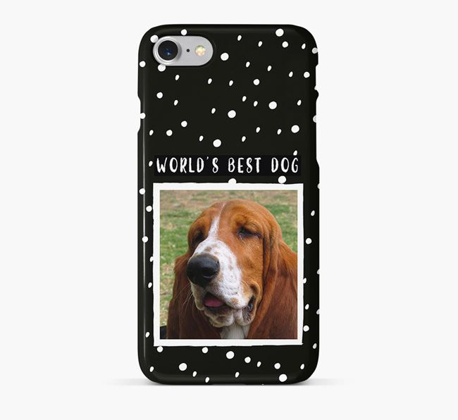 'Worlds Best Dog' Phone Case with photo of your Basset Hound
