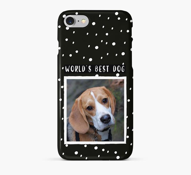 'Worlds Best Dog' Phone Case with photo of your Beagle