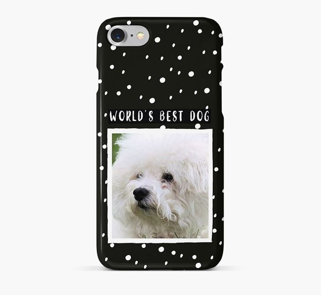 'Worlds Best Dog' Phone Case with photo of your Bichon Frise