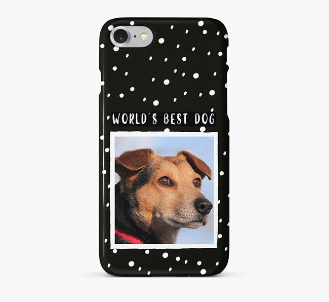 'Worlds Best Dog' Phone Case with photo of your Black Russian Terrier