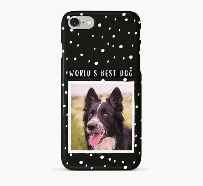 'Worlds Best Dog' Phone Case with photo of your Border Collie