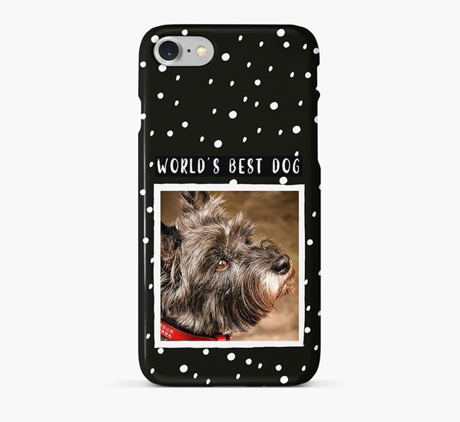 'Worlds Best Dog' Phone Case with photo of your Cairn Terrier