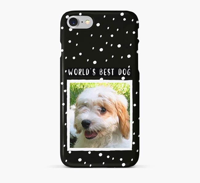 'Worlds Best Dog' Phone Case with photo of your Cavachon