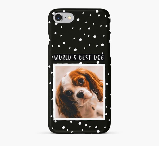 'Worlds Best Dog' Phone Case with photo of your Cavalier King Charles Spaniel