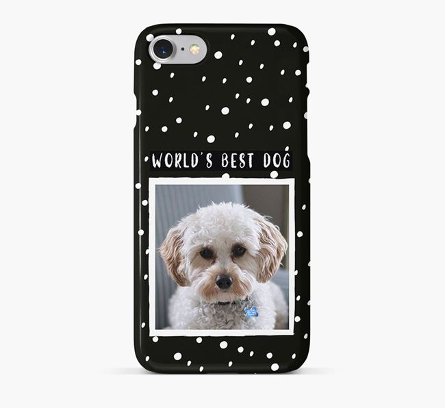 'Worlds Best Dog' Phone Case with photo of your Cavapoo