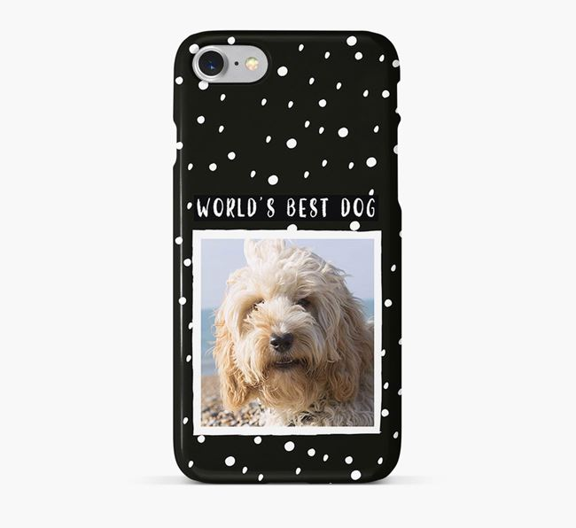 'Worlds Best Dog' Phone Case with photo of your Cockapoo